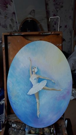 Балерина. Прима - балерина Одетта. Картина. Живопись в интерьер