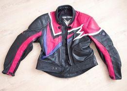 Новая кожаная байкерская куртка, размер 44+