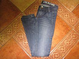 """Spodnie dżinsowe """"rurki"""" dla dziewczynki 146 cm"""