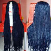22 inches long braided Wig 0