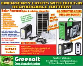 Emergency Solar Lighting and cellphone chargerharger