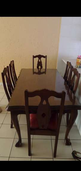 Antique Ball and Claw Table, chairs and side table