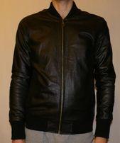 Кожаная мужская куртка с манжетами (НОВАЯ)