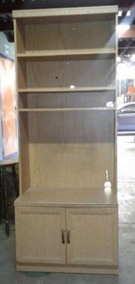 WOOD TV & BOOKCASE CABINET
