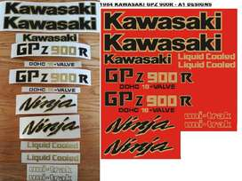 1984 Kawasaki GPZ 900R / A1 decals sticker kit