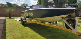 Sick Day boat & trailer with 80cc Mariner motor