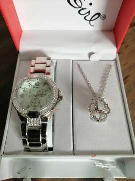 Bad Girl Royalty watch and necklace