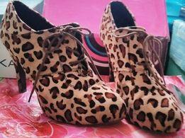 Ботильоны леопард
