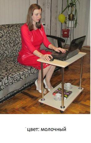 Журнальный столик на колесах с полкой. Подставка для ноутбука Доставка Киев - изображение 5
