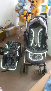 Image of Baby Pram with carseat