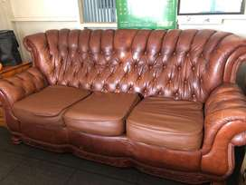 MADISON 3 SEATER LEATHER COGNAC