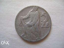 Moneta rybak 5zł 1959r