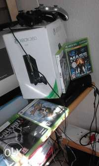 Image of Reduced price-Xbox 360 with two controllers plus games