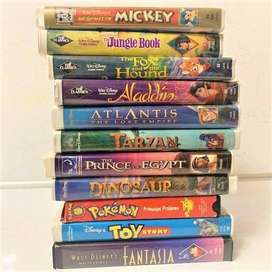 4 boxes full of VHS tapes