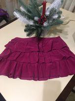 Нарядная вельветовая юбка Sisley
