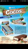 Продам батончики с кокосом