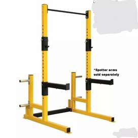 Squat rack and pull up bar heavy duty frames are guaranteed.