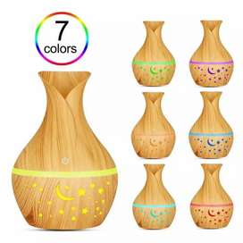 Wood humidifier 7 colors