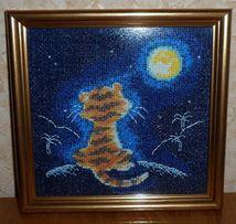 "Вышивки крестом ""Тигренок смотрит на луну"", ""Махаон"""