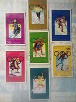 Спорт,гашеные почтовые марки