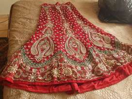 Red indian bridal outfit *4 piece*