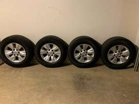 Continental Crosscontact A/T + Toyota 2018 Hilux Rims x5