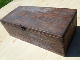 Шкатулка, коробка состаренная с замочком, сундук из дерева