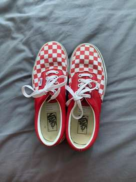 Checkerboard( Racing Red) Vans