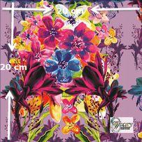 Materiał lub tapeta drukowane na zamówienie - Kolorowy bukiet kwiatów