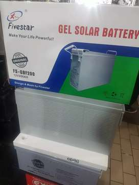 Five Star Gel Solar Rechargeable Battery 12V 200AH for only R4500