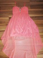 Sukienka różowa kamienie
