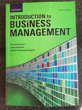 Introduction to Business Management ""
