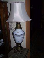 lampa stojąca- porcelanowo- mosiężna