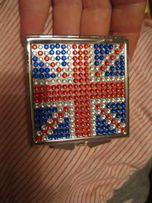 на подарок зеркало раскладное двойное британский флаг металлическое