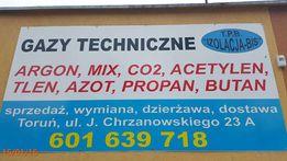 Dwutlenek,Tlen,Acetylen,Argon,Mieszanka,Hel,butla co2, Gazy Techniczne