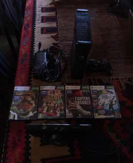 Xbox 360 & kinect for sale