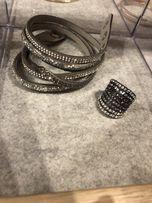 Biżuteria kpl pierścionek i bransoletka ck