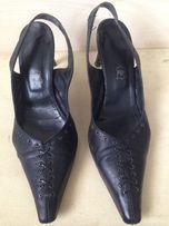 Женские кожаные туфли- босоножки