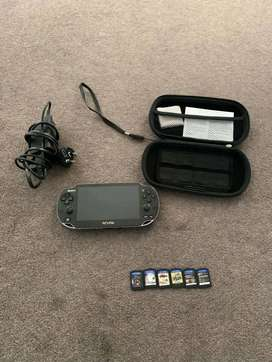 Sony Ps Vita + game card console in good condition memory card