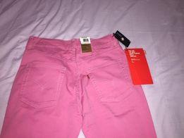 Nowe jeansy bootcut dżinsy Lewis 30/30 różowe