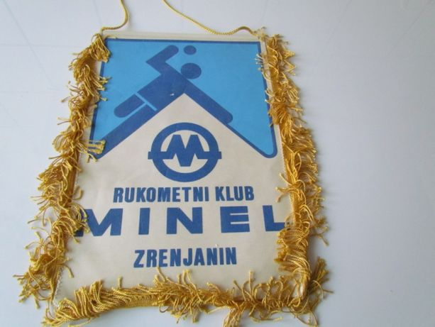 Proporczyk Minel Zrenjanin Klub Sportowy Piłka Ręczna Serbia lata 80 Łódź - image 3