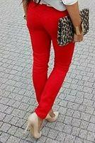 NOWE czerwone spodnie rurki 34 XS 36 S