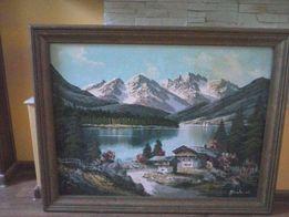 obraz olejny góry