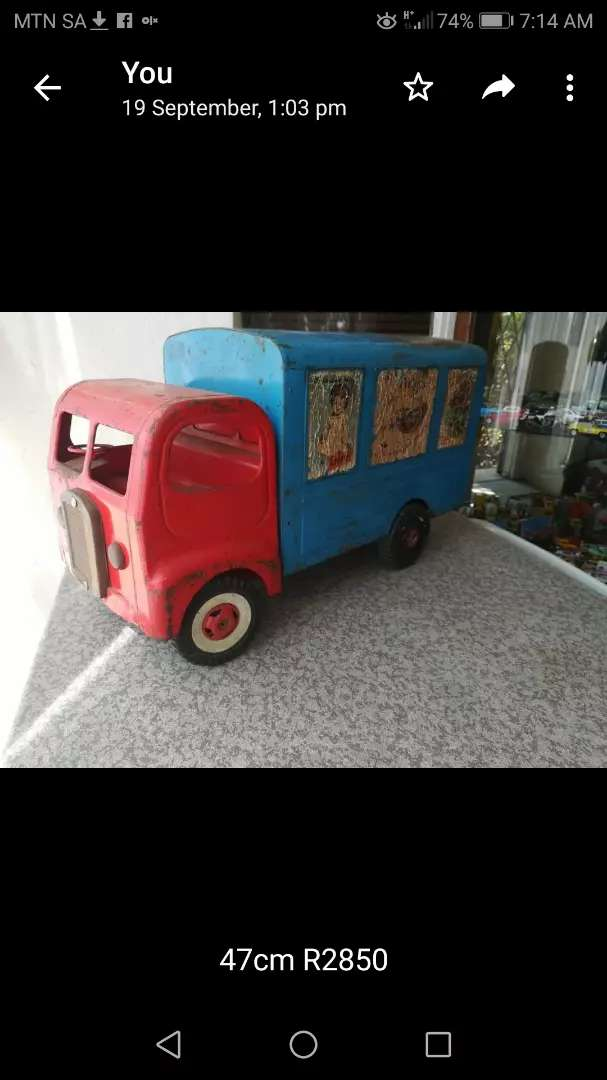 1960's Triang tin toy truck 0