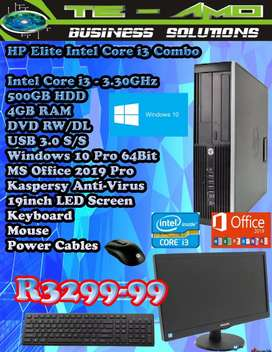 HP ELITE intel Core i3 Combo deal