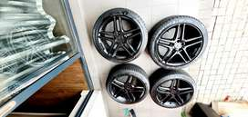 18 inch Mercedes AMG mag wheels and tyres