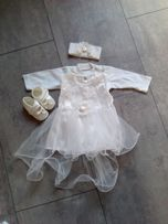 ubranko do chrztu dla dziewczynki - 62/68