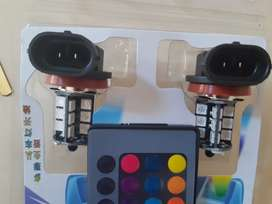 Colorful Led car lights with remote
