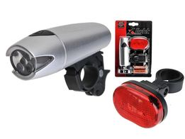 Lampki rowerowe X-Light LED PRZÓD/TYŁ Lampka zestaw lampek światełka