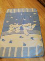 Детское шерстяное одеяло и флисовое